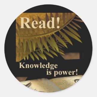Read! Knowledge is Power Sticker