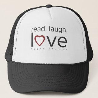 read. laugh. love. trucker hat