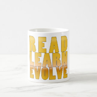 Read. Learn. Evolve. Classic White Coffee Mug