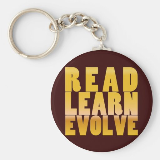 Read. Learn. Evolve. Key Chain
