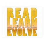 Read. Learn. Evolve. Postcard