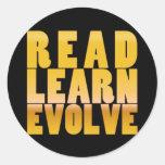 Read. Learn. Evolve. Sticker