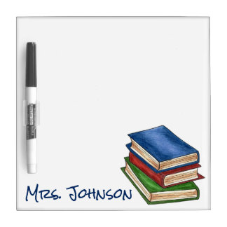 Read Library Books Reading Book Stack Teacher Gift Dry Erase Board