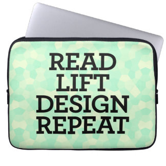 Read Lift Design Repeat Laptop Sleeve