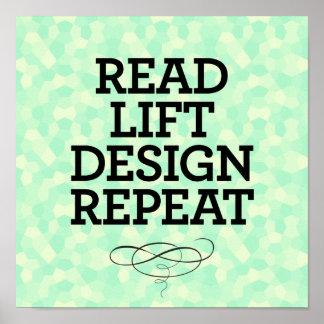 Read Lift Design Repeat Poster