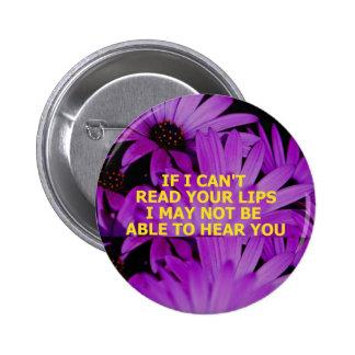READ LIPS - Customized Pinback Button
