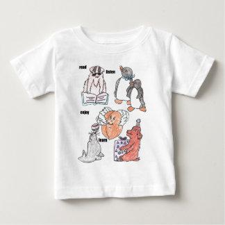 read,listen,enjoy,learn baby T-Shirt