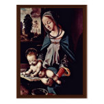 Read-Madonna And Christ Child By Piero Di Cosimo ( Post Cards