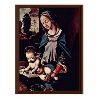 Read-Madonna And Christ Child By Piero Di Cosimo ( Postcard