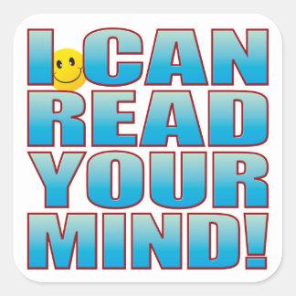 Read Mind Life B Square Sticker