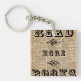 Read More Book Illustration Dictionary Page Art Keychain