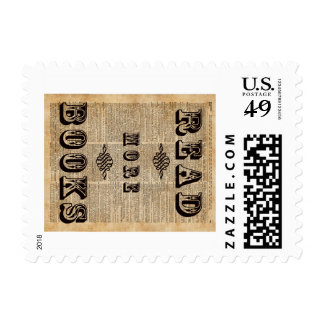 Read More Book Illustration Dictionary Page Art Stamp