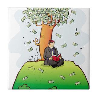 Read-more-books-and-earn-money.jpg Azulejo Cuadrado Pequeño
