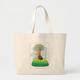 Read-more-books-and-earn-money.jpg Large Tote Bag