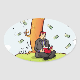 Read-more-books-and-earn-money.jpg Oval Sticker