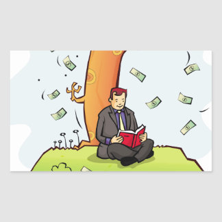 Read-more-books-and-earn-money.jpg Rectangular Sticker