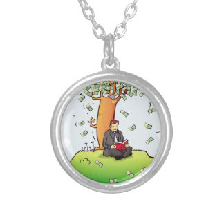Read-more-books-and-earn-money.jpg Silver Plated Necklace