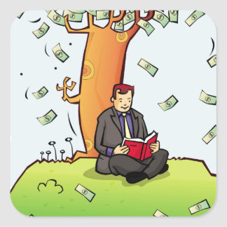 Read-more-books-and-earn-money.jpg Square Sticker