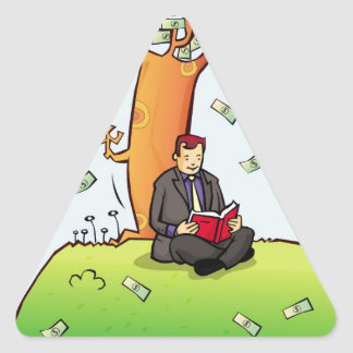 Read-more-books-and-earn-money.jpg Triangle Sticker