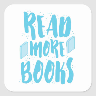 read more books in blue square sticker