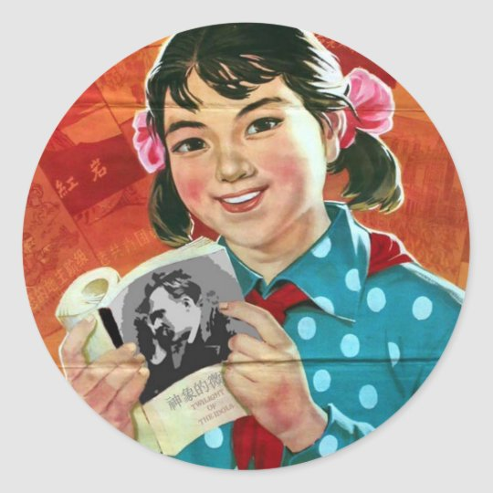 Read More Books, Read Good Books Classic Round Sticker