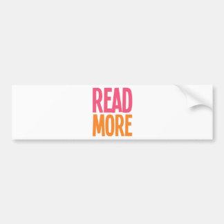 Read More Car Bumper Sticker