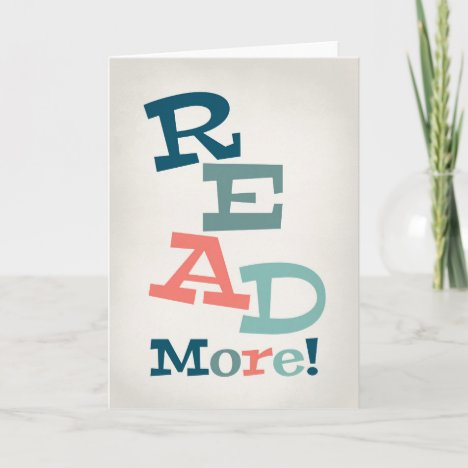 Read More - Retro Colorful Reading Card