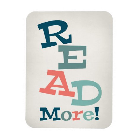 Read More - Retro Colorful Reading Magnet
