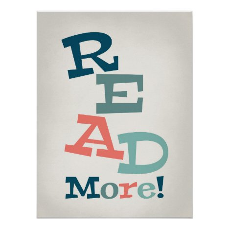 Read More - Retro Colorful Reading Poster