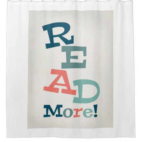 Read More - Retro Colorful Reading Shower Curtain