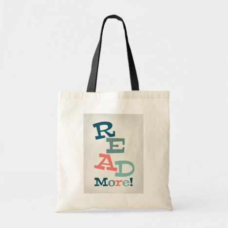 Read More - Retro Colorful Reading Tote Bag