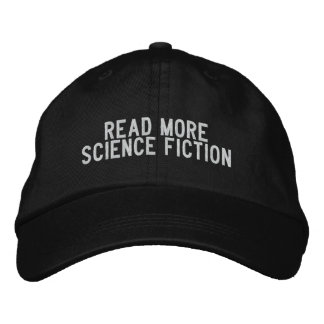 read more science fiction embroidered baseball cap