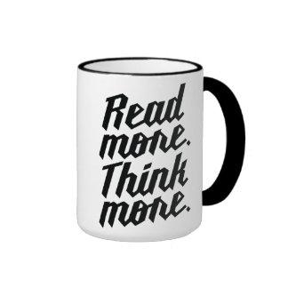 Read More Think More Ringer Mug