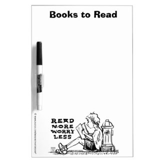 Read More Worry Less Books to Read Dry Erase Dry-Erase Board