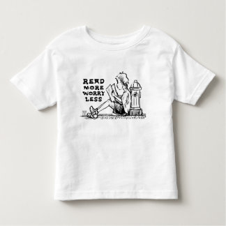 Read More Worry Less Boy Reading Toddler T-Shirt