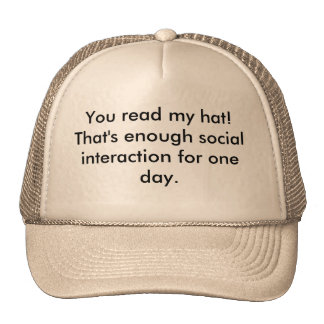Read my hat!