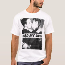 Read My Lips Gay Kiss Vintage Newspaper Clipping T-Shirt
