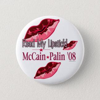 Read My Lipstick McCain/Palin Button