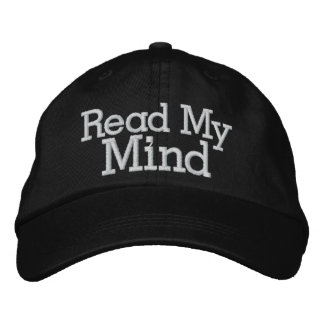 Read My Mind Embroidered Baseball Cap