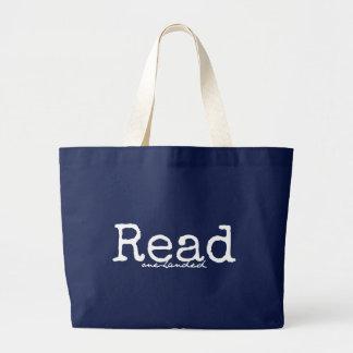 Read One-Handed Customizable Tote Dark Jumbo Tote Bag