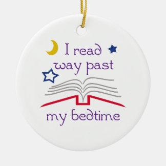 Read Past Bedtime Ceramic Ornament