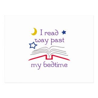 Read Past Bedtime Postcard