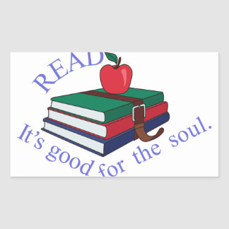 Read Rectangular Sticker