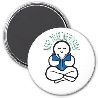 Read Relax Enjoy Learn 3 Inch Round Magnet