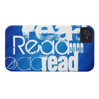 Read; Royal Blue Stripes iPhone 4 Cases