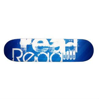 Read; Royal Blue Stripes Skate Deck