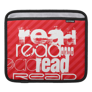 Read; Scarlet Red Stripes iPad Sleeve