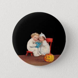Read Scary Story Pinback Button