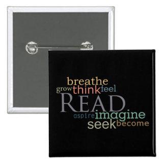 Read, Seek, Imagine Button (Dark)