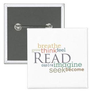 Read, Seek, Imagine Magnet (Light) Button